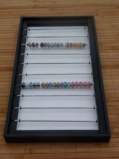 Holds 200 PLUS Display craft show tray lampwork glass beads Storage | AQUAHI - Woodworking on ArtFire