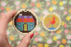 cross stitched pendants via thompsonfamily-life.com