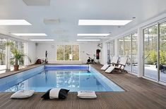 An indoor pool?  Yes, please!
