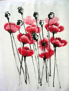 #sumi-e poppies YJP©Groningen