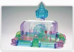 Jaula Hamster Hamstera Jerbo Topito Acrilica Baul C/tubos