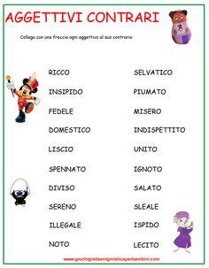aggettivi_contrari_1 schede didattiche
