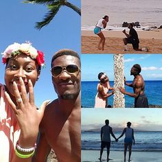 Chynna & Bo Lokombo BC Lions Hawaiian Proposal @EventsbyCCM Honeymoon Beach Wedding