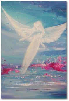 Limited angel art photo modern angel painting by HenriettesART, €10.00