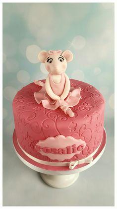 Angelina ballerina cake, taart