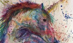 """Swirl"" unicorn print | Jamie Taylor Art"