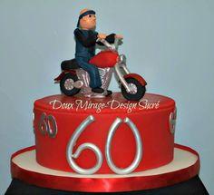gâteau de fête pour un passionné de la moto