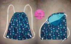 Blue Seamless Pattern Draw-string Bag
