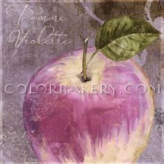 Violette IV by Color Bakery Mulberry Wine, Olive Green, Orchids, Bakery, Fine Art Prints, Wall Art, Fruit, Purple, Pretty