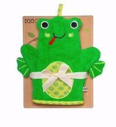 BubbaBeans Baby Boutique. Canada's New Baby Store. Zoochini Flippy the Frog Bath Mitt.