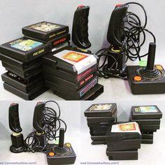 Vintage Atari gaming cassettes and gaming controllers. Bids close Thurs, 10 Nov from 11am ET. http://bid.cannonsauctions.com/cgi-bin/mnlist.cgi?redbird80/1038