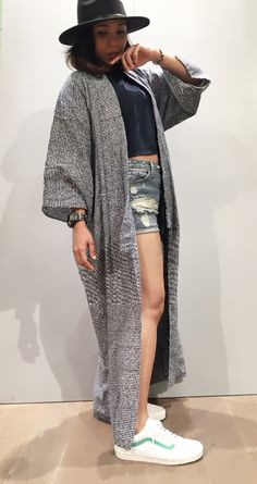 Kimono coat to match the simple, casual style in comfort.  Line id : @fqi5117d https://www.facebook.com/FashionStreet4yourLook/ http://www.instagram.com/v2trend/