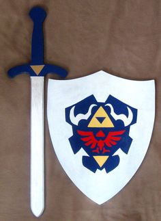 Child's Arms & Armour. Hylian shield and Master sword! Where were these toys when I was a kid?!?!?