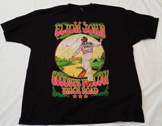 Elton John Goodbye Below Brick Road Black 2XL 100% Cotton T-Shirt tultex #Tultex #BasicTee