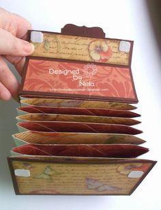 Nelasbasteleien: Fächertasche mit Envelope Punch Board - Workshop * schönes, einfaches Prinzip