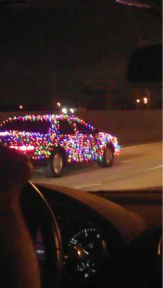 Christmas Light Car..