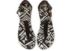 Black Woven Women's Playa Sandals | TOMS.com