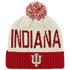 Might be needing this soon . . . | Indiana Hoosiers adidas Cardinal Heritage Hall Pom Cuffed Knit Hat