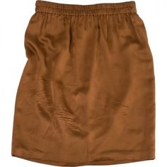 Pre-owned LANVIN Brown Silk Skirt (99 AUD) ❤ liked on Polyvore featuring skirts, bottoms, silk skirt, brown skirt, lanvin, brown knee length skirt and brown silk skirt