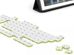 "Customize your keyboard with the ""puzzle keyboard"". Keep only the keys you need or rearrange them how you want to."