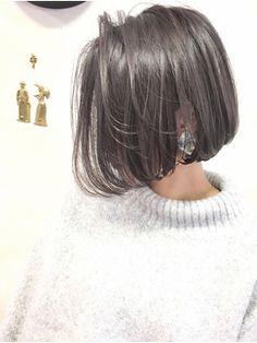 Short Hair Syles, Girl Short Hair, Long Hair Styles, Half Colored Hair, Korean Short Hair, Haircut And Color, Fantasy Hair, My Hairstyle, Shoulder Length Hair
