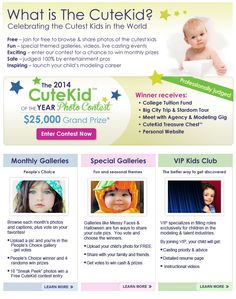 Online Baby Photo Contest : Learn How Online Cute Kid Photo Contest Works