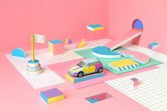 Paper-Craft Models by Noelia Lozano