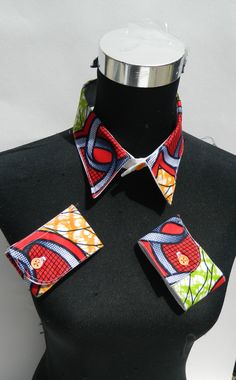 Detachable Collar and Cuff in African Print by Tayamika on Etsy