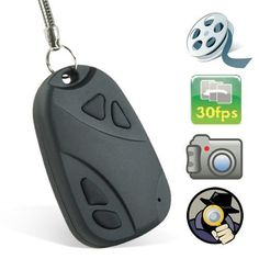Car Keychain Hidden Camera Key Chain- Hidden Pinhole Digital Video Recorder