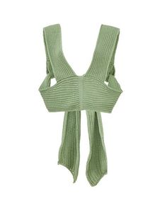 Simonett Spring/Summer 2020 empire waist knit crop with straps that feed from the front to the back for an adjustable back tie closure. Wear it as is or over a button up blouse as a layering piece. Define Fashion, Knit Wrap, Winter Tops, Textiles, Knitting Designs, Simple Outfits, Crochet Clothes, Crochet Projects, Crochet Ideas