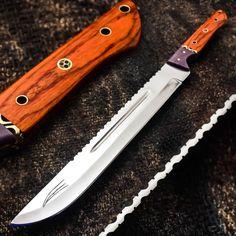 ALONZO KNIVES USA CUSTOM HANDMADE TACTICAL MACHETE 01 TOOL STEEL KNIFE WOOD 81 #AlonzoKnives
