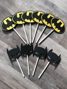 Batman Cupcake Toppers Batman Birthday Party Justice League