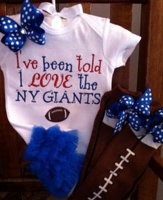 I Love The NY Giants Ruffle Butt Onesie by Gametimebabyboutique 54f78fe6d