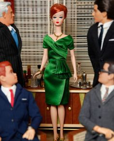 Joan Holloway Barbie <--- I have the Joan barbie but not this outfit, did someone make this dress I wonder....