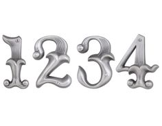 These are a set of ornate ready-made house numbers AND I LOVE THEM