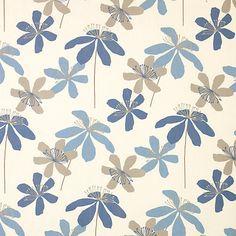 Buy John Lewis Passion Flower Curtain, Celestial   John Lewis