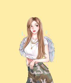 Rose Park, Black Pink Kpop, Line Friends, Blackpink And Bts, Park Chaeyoung, Kpop Fanart, Henna Designs, Cute Drawings, Art Sketches