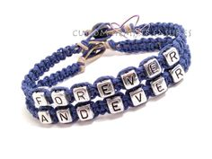 Forever and Ever Couples Bracelets on Etsy #forever #etsy #couples #bracelets…