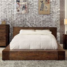 Features: -Transitional style. -Box-like bed frame. -Low-profile footboard. Distressed: -Yes. Frame Material: -Wood. Headboard Included: -Yes. Footboard Included: -Yes. Slats Required: -Yes.