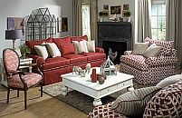 Paula Deen Home.  I have a red sofa maybe I just need a couple of red and white chairs.