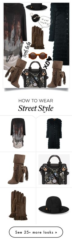 """""""Street style"""" by hani-bgd on Polyvore featuring Vivienne Westwood Anglomania, Missoni, Alexander McQueen, Aquazzura, Rebecca Minkoff, Gucci, Kate Spade and StreetStyle"""