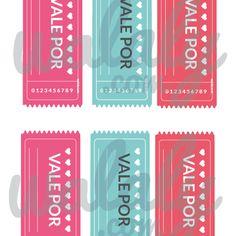 Cupones / Vales de #amor para San Valentín para imprimir #walaly walaly.com