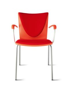 Josep Lluscà designed the #Talky chair collection for Enea. The family consists of  a 4-legged chair and an armchair. Its beam system offers an interesting solution for public facilities such as hospitals, banks... #red http://www.eneadesign.com/en/products/by_collection/talky/