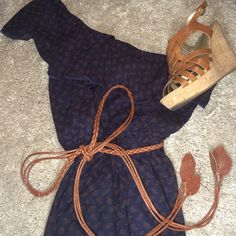 One shoulder sundress NWOT Picked up in a local boutique, no name brand, just needed exposure. So trendy and on point. Priced to sell Free People Dresses One Shoulder