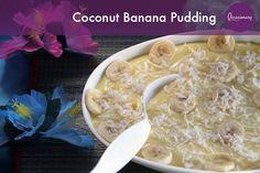 Coconut Banana Pudding #occasionary #luau #summer #party #tiki