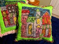 This is a stunning way to make your own fabric design using crayons.
