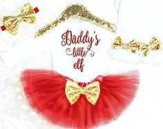 Baby Girl 1st Christmas Outfit by KennedyClairesCloset on Etsy