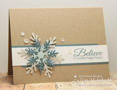 Snowflake Trio die (amuse studio); Make a Snowflake die (Taylored Expressions)