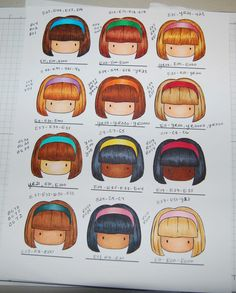 Copic hair and skin combos 3