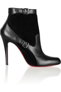 Christian Louboutin | Canassone 100 buckled suede and leather ankle boots